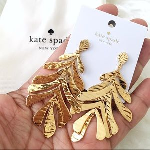 ♠️ Kate Spade A New Leaf Gold Statement Earrings